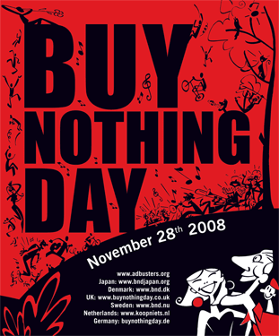 Buy Nothing Day 2008, red, U.S. version